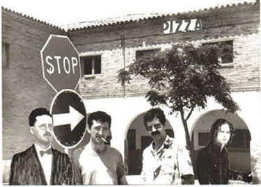 Joyce, Bolaño, Porta & Morrison. Photomontage by Núria Martí & Walter Guimaraes, 1984